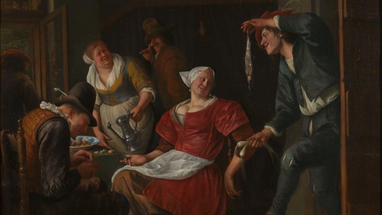 Jan Steen (1625/1626-1679)Het Minneaanbod, 1660-69 Royal Museums of Fine Arts Belgium