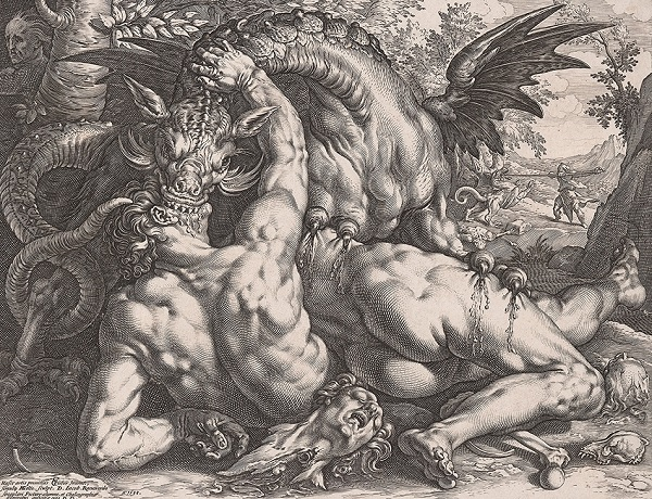 Hendrick Goltzius, The Dragon Devouring the Companions of Cadmus, 1588 National Gallery of Canada, Ottawa