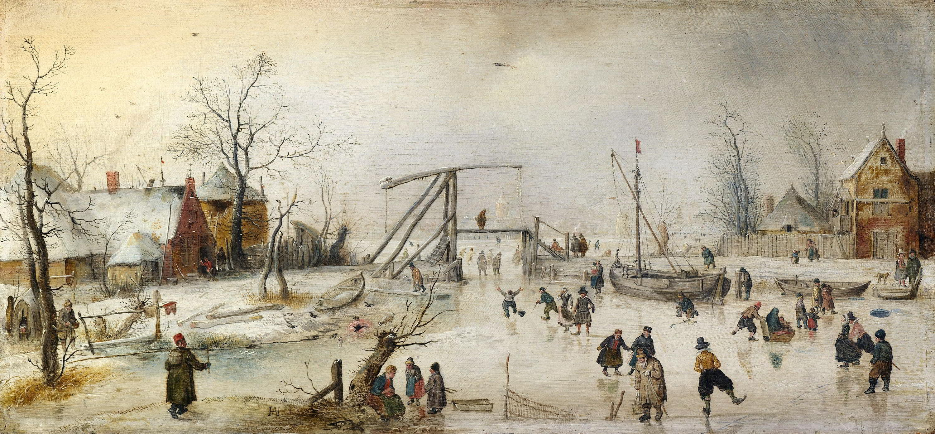 Hendrick Avercamp (1585-1634), Scene on the Ice, ca. 1620 National Gallery of Ireland, Dublin