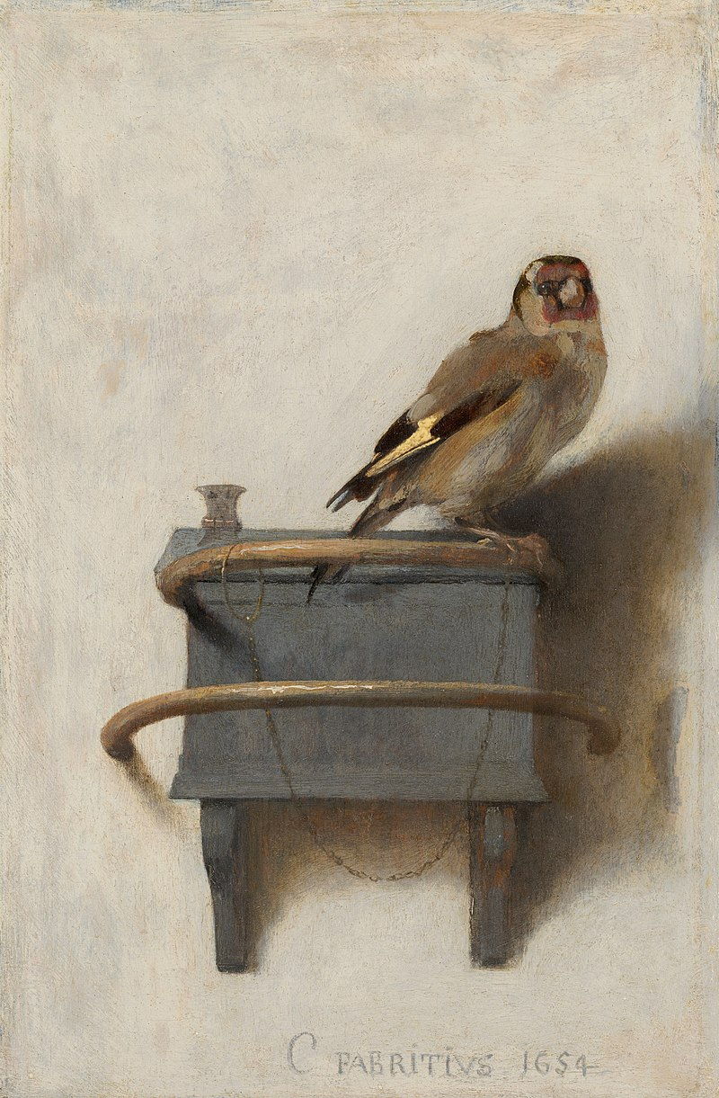 Carel Fabritius (1622-1654), The Goldfinch, 1654 Mauritshuis, The Hague