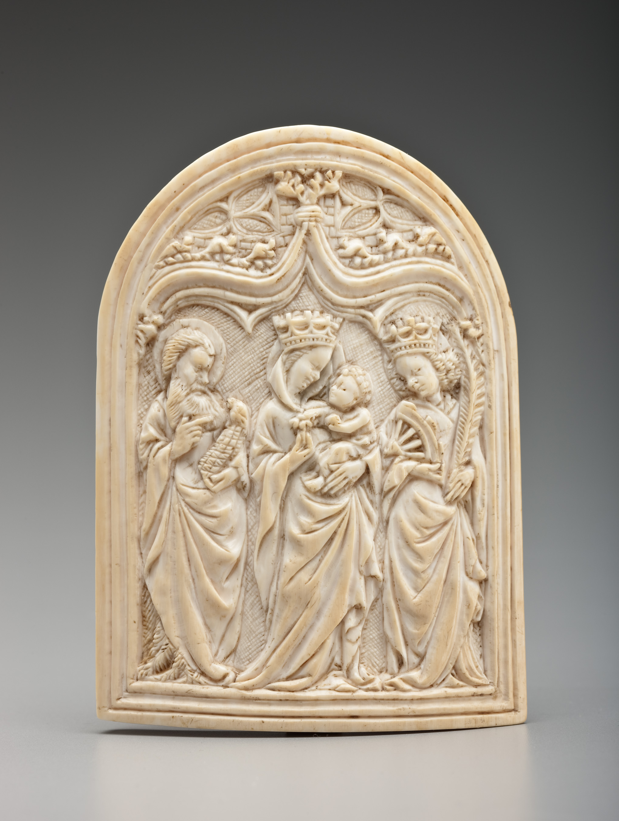 Unidentified Artist (Utrecht), Pax, ca. 1450-75, ivory, 12.1 x 8.9 x 1 cm Detroit Institute of Arts