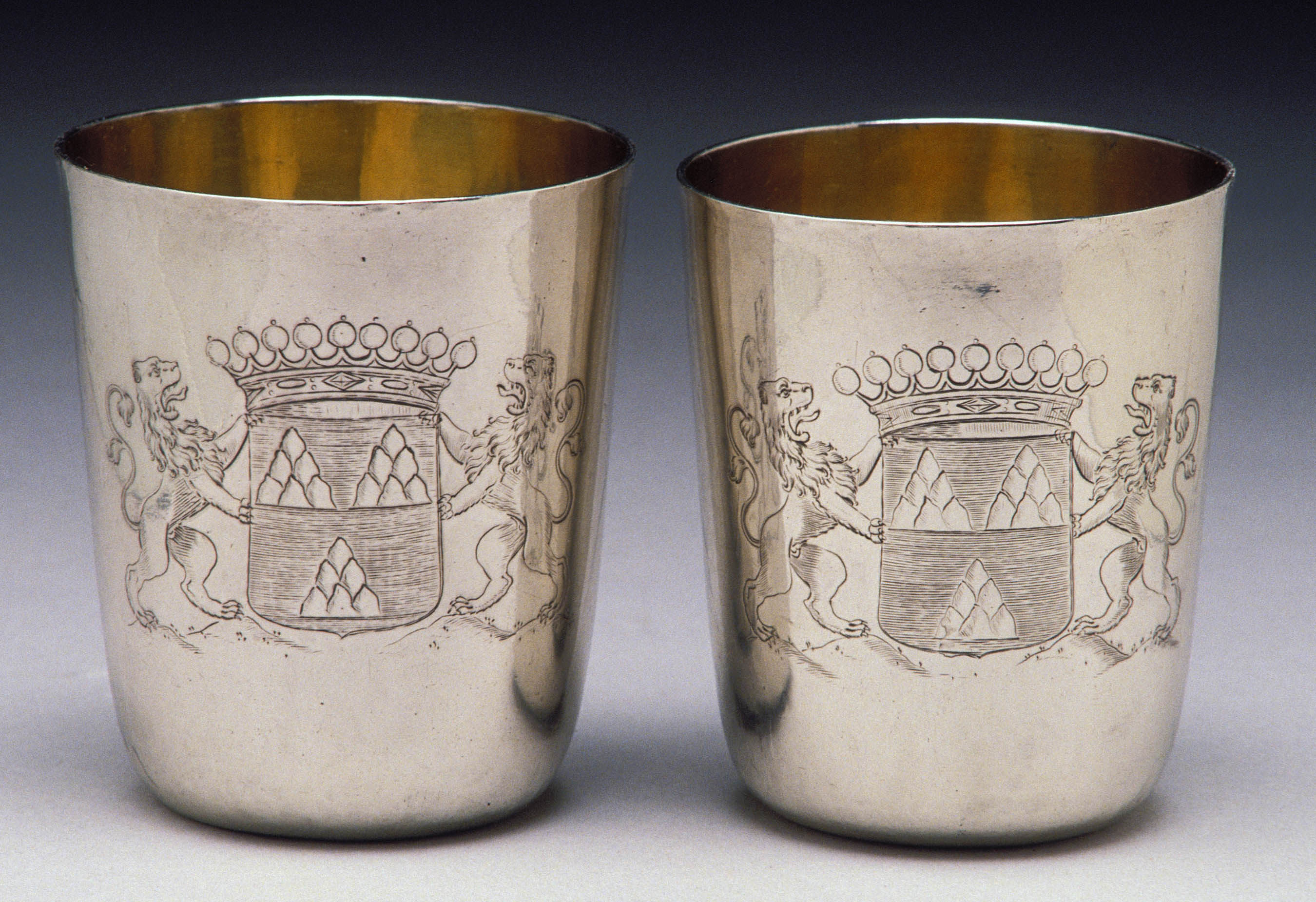 Adam Loofs (1645-1710), Tumblers, ca. 1688, silver, 9.22 x 7.8 cm Detroit Institute of Arts