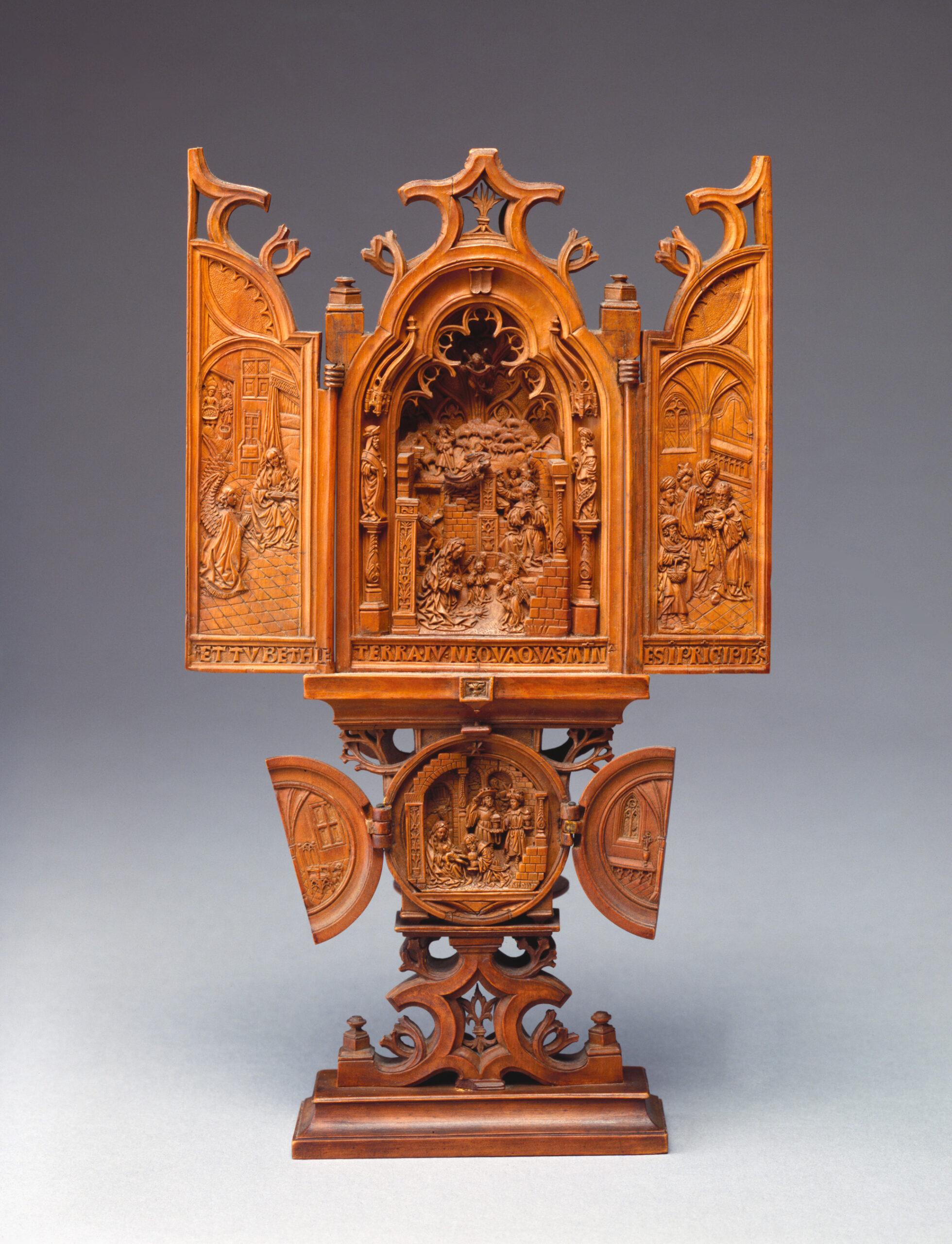 Unidentified artist (Brabant), Triptych, ca. 1520, boxwood, 22.9 x 13.6 cm Detroit Institute of Arts