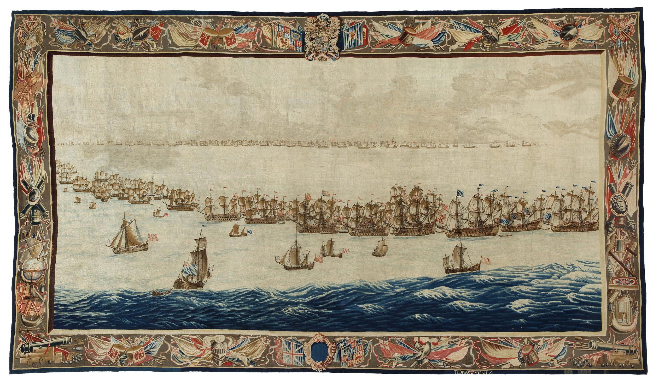 Designed by Willem van de Velde I (1611-1693),<em>The Fleets drawn up for Battle</em>, after 1685 National Maritime Museum, Amsterdam