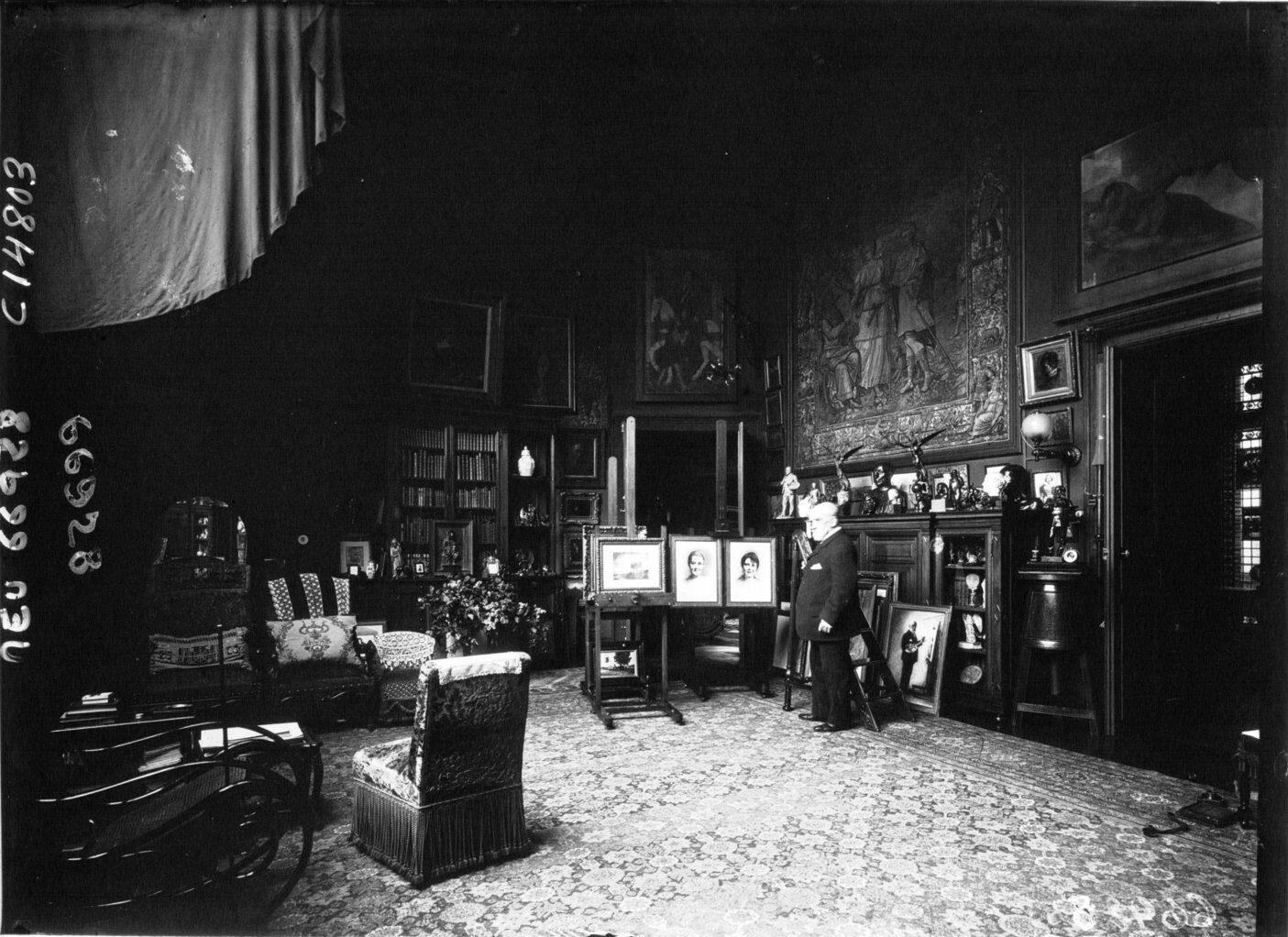 1. Léon Bonnat in his Parisian atelier