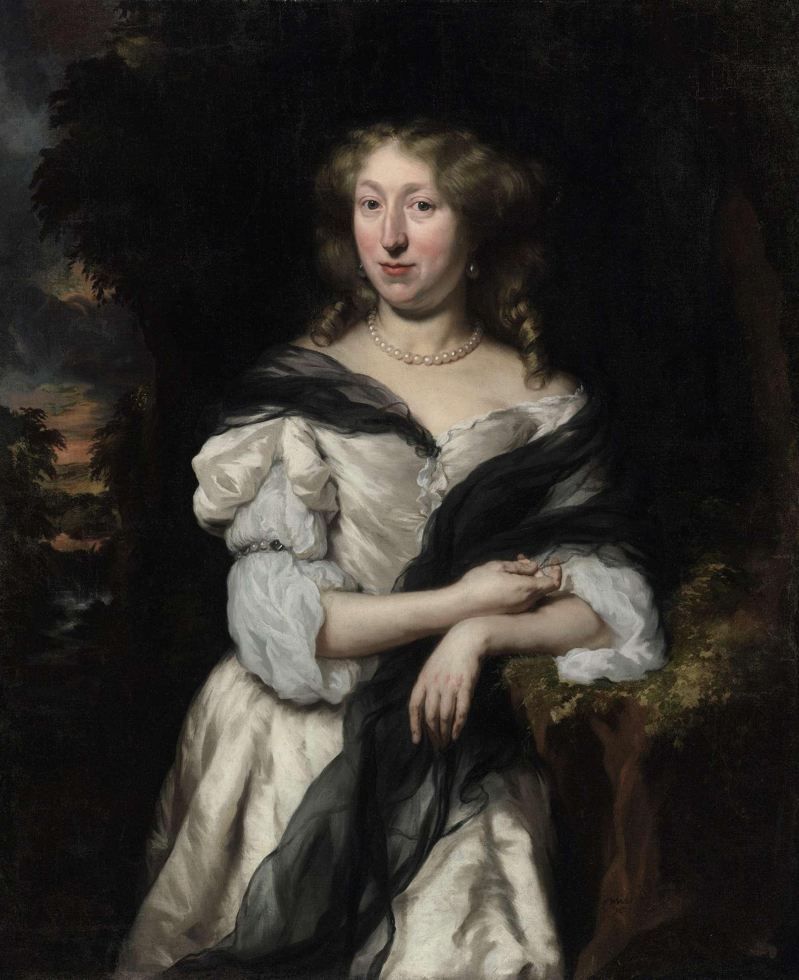 Nicolaes Maes (1634-1693), <em>Portrait of a Woman</em>, 1686, private collection