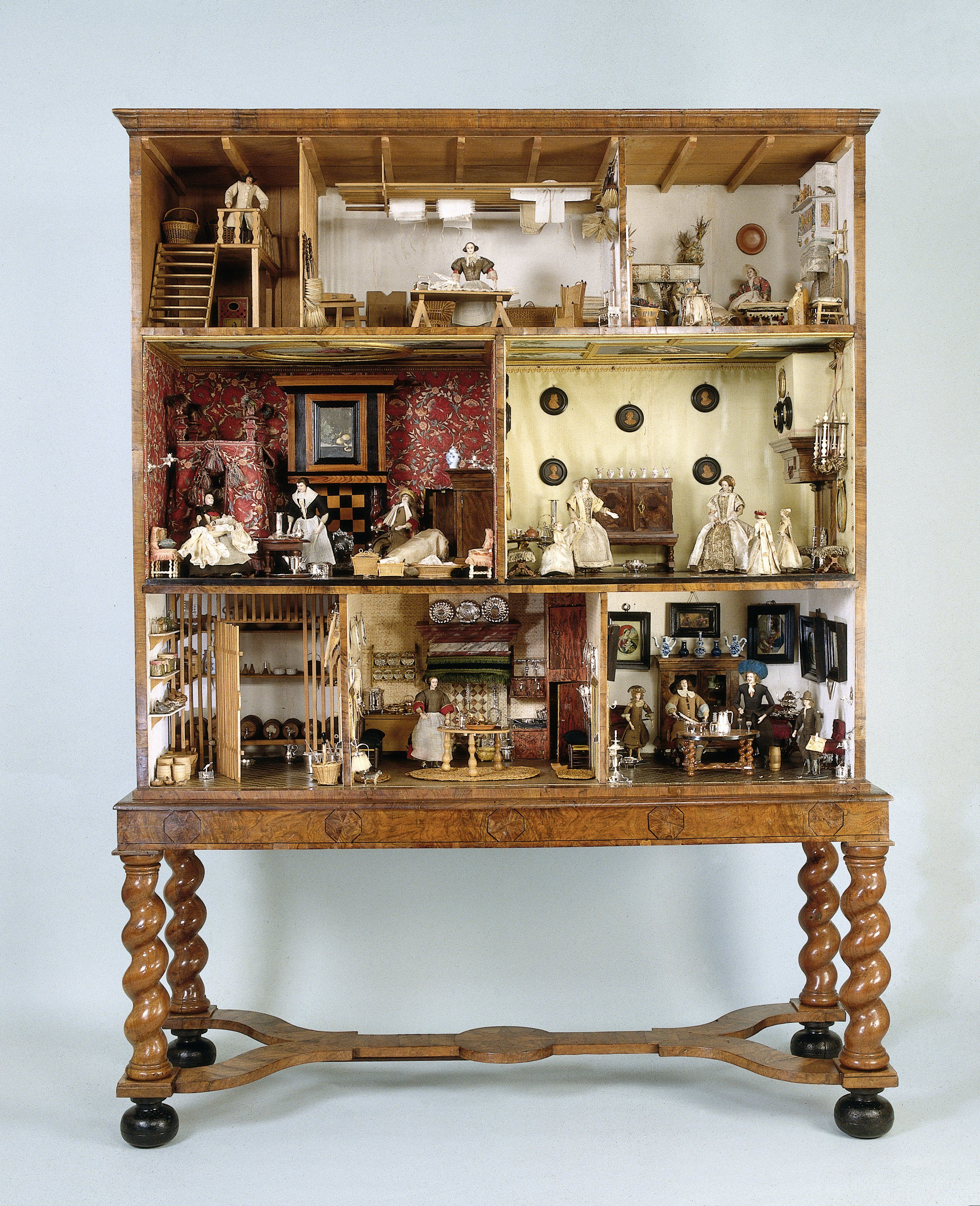 Dollhouse of Petronella Dunois, c. 1676, Rijksmuseum Amsterdam, gift of Mrs. A.S.M. van Tienhoven-Hacke