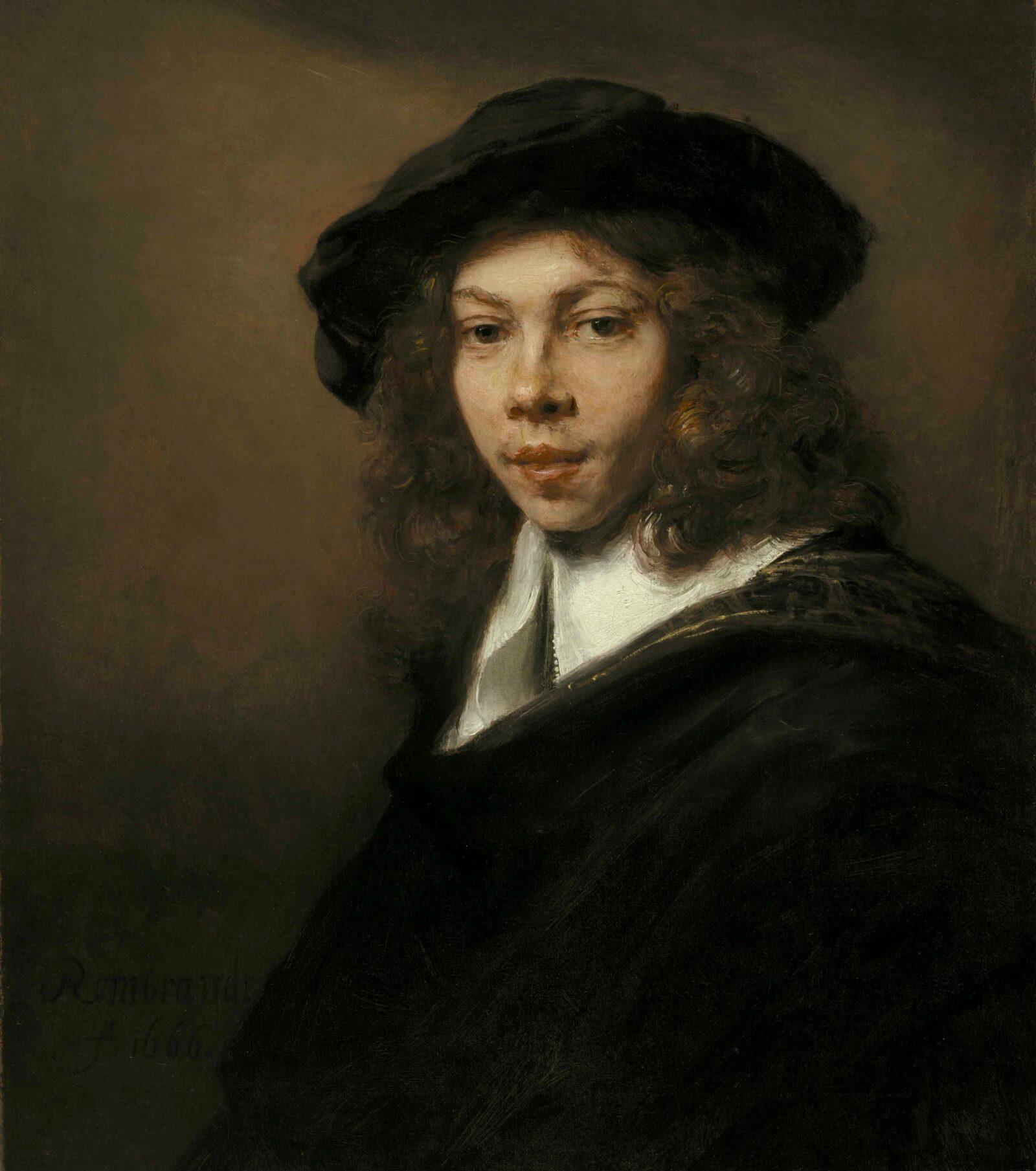 Rembrandt van Rijn (1606-1669), Young Man in a Black Beret, ca. 1662 Nelson Atkins Museum, Kansas City