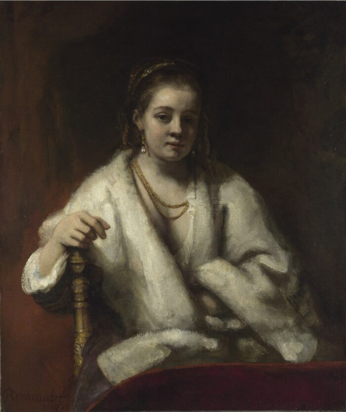 Rembrandt (1606-1669), Woman in a Fur Cap, probably Hendrickje Stoffels, 1652 The National Gallery, London