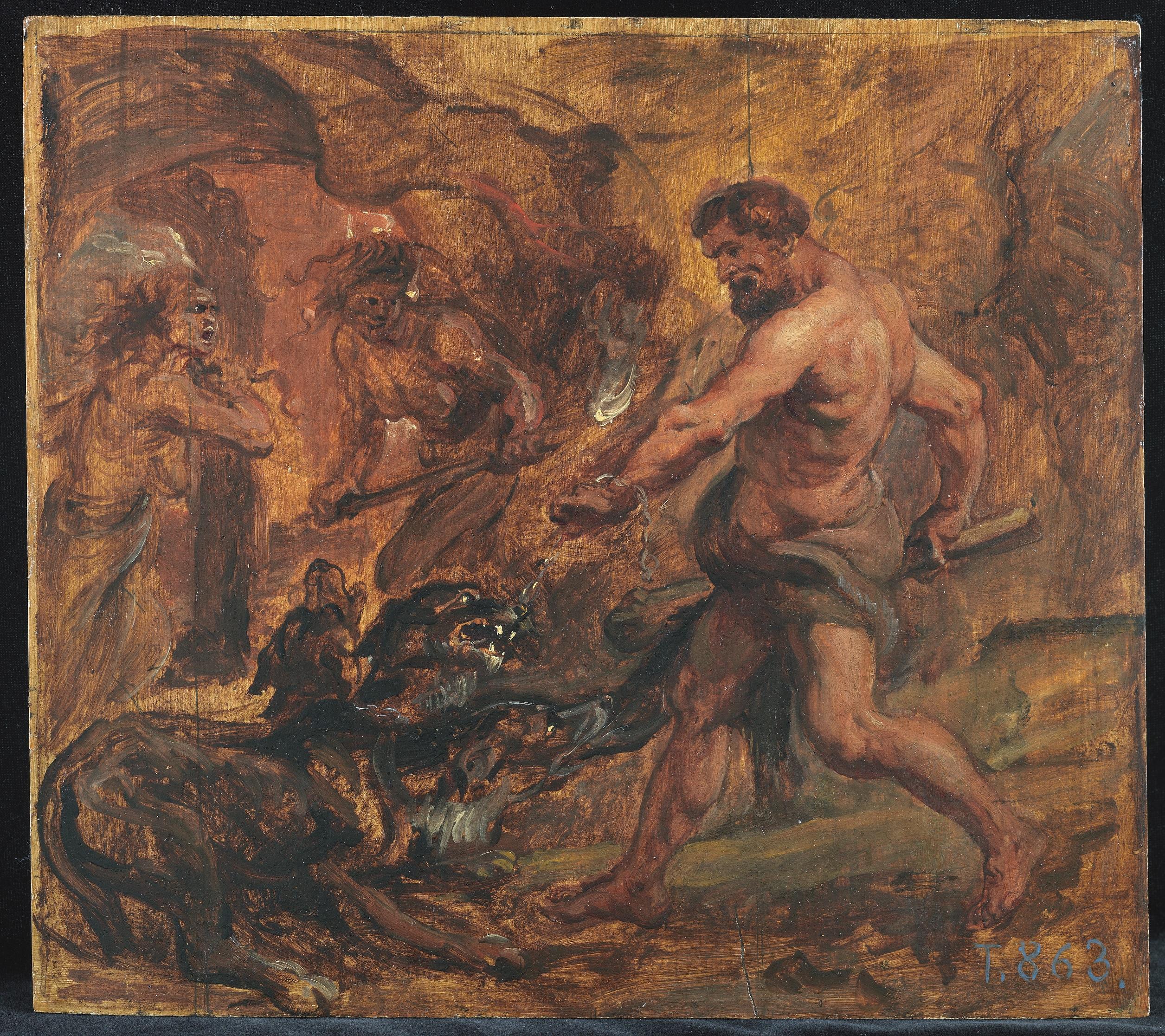 Peter Paul Rubens (1577-1640), Hercules and Cerberus, ca. 1636-1637, oil on panel, 28 x 31.6 cm Museo Nacional del Prado