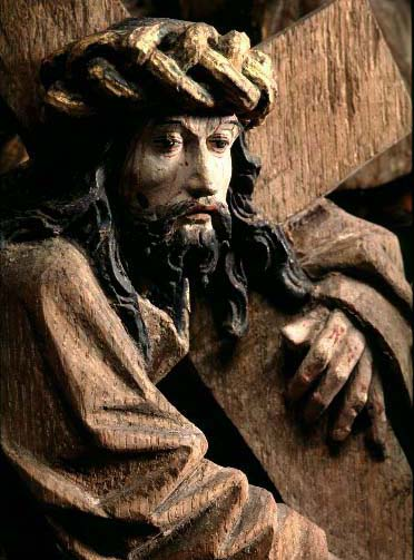 Detail of Christ carrying the cross (Jonsberg Altarpiece)