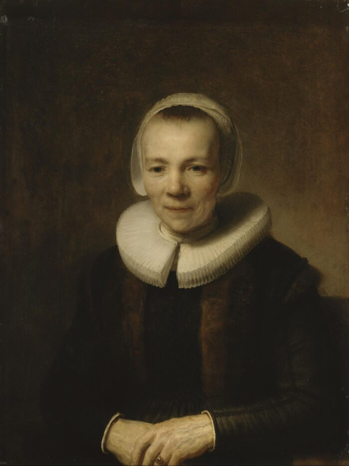 Rembrandt van Rijn (1606-1669), <em>Portrait of Baertje Martens</em>, ca. 1640 State Hermitage Museum, St. Petersburg