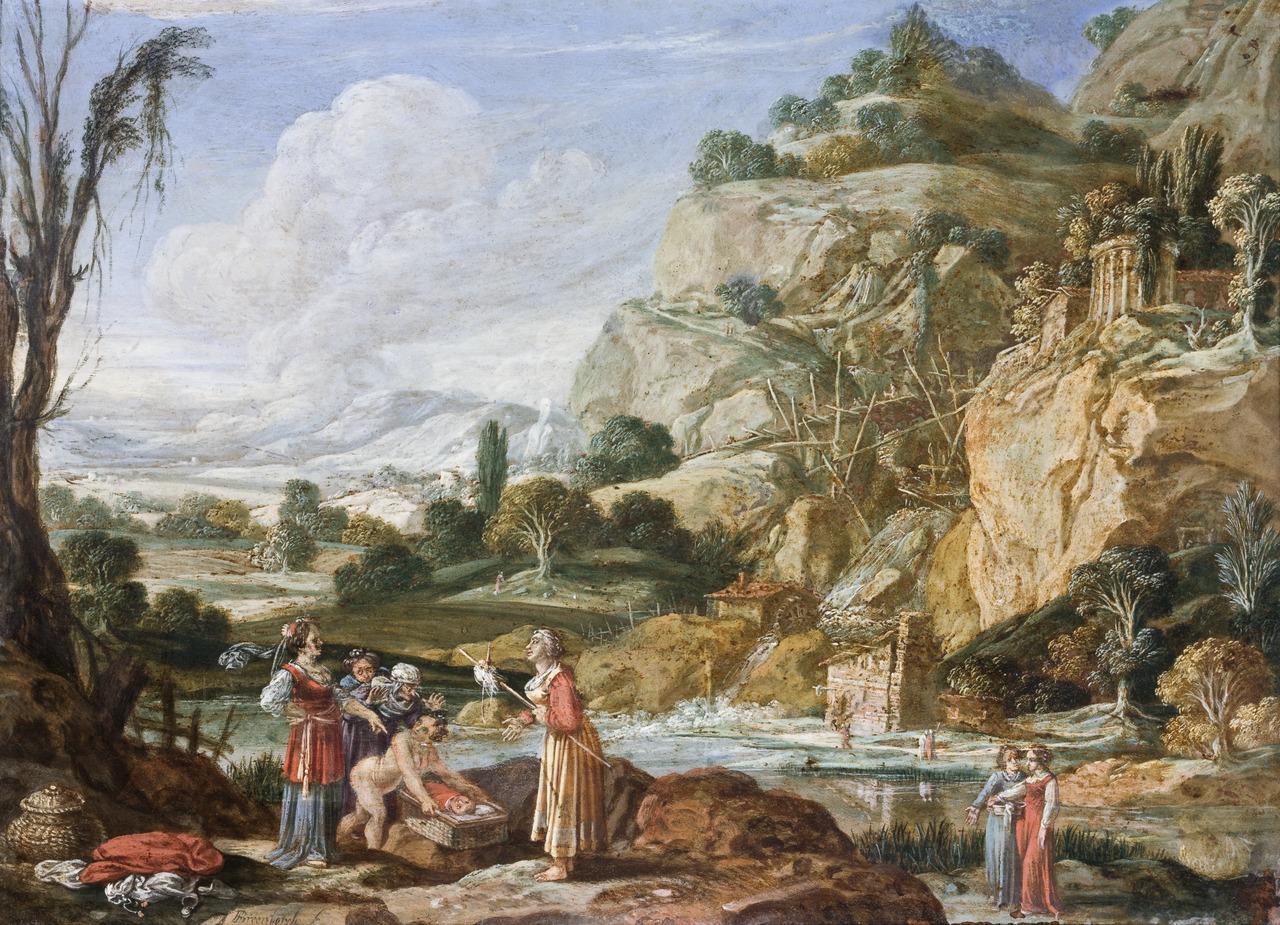 Bartholomeus Breenbergh (1598-1657), The Finding of Moses, 1522, Hallwyl Museum, Stockholm