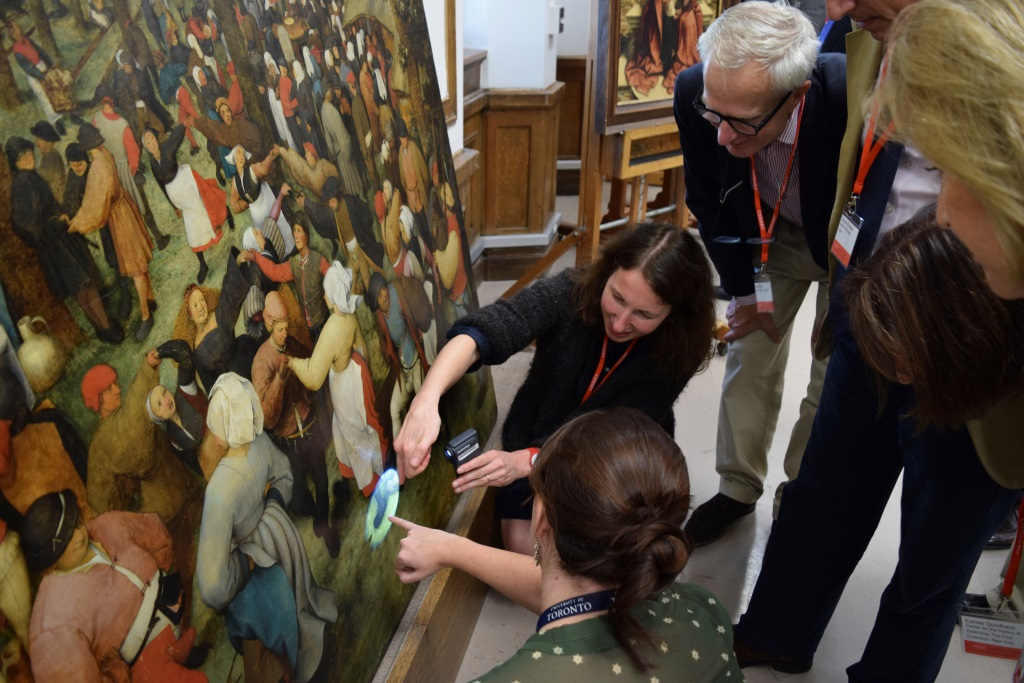 Study of the The Wedding Dance by Pieter Bruegel I in the Conservation Rooms of the Detroit Institute of Arts (DIA)