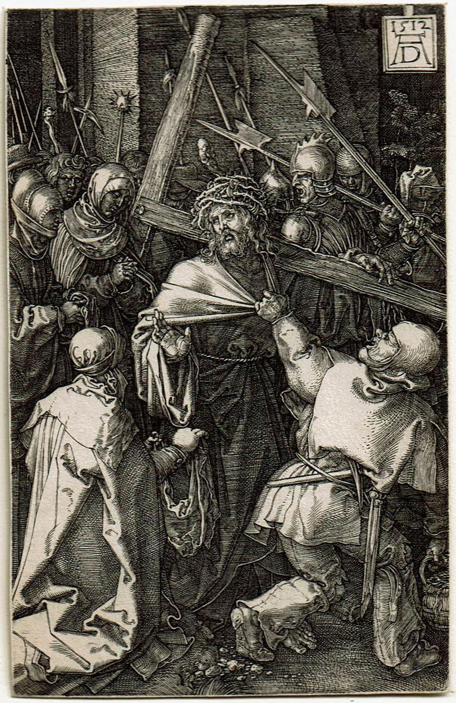 Albrecht Dürer (1471-1528), <em>Christ Carrying the Cross</em> from the Egraved Passion series, 1512 Krannert Art Museum, University of Illinois, Urbana-Champaign