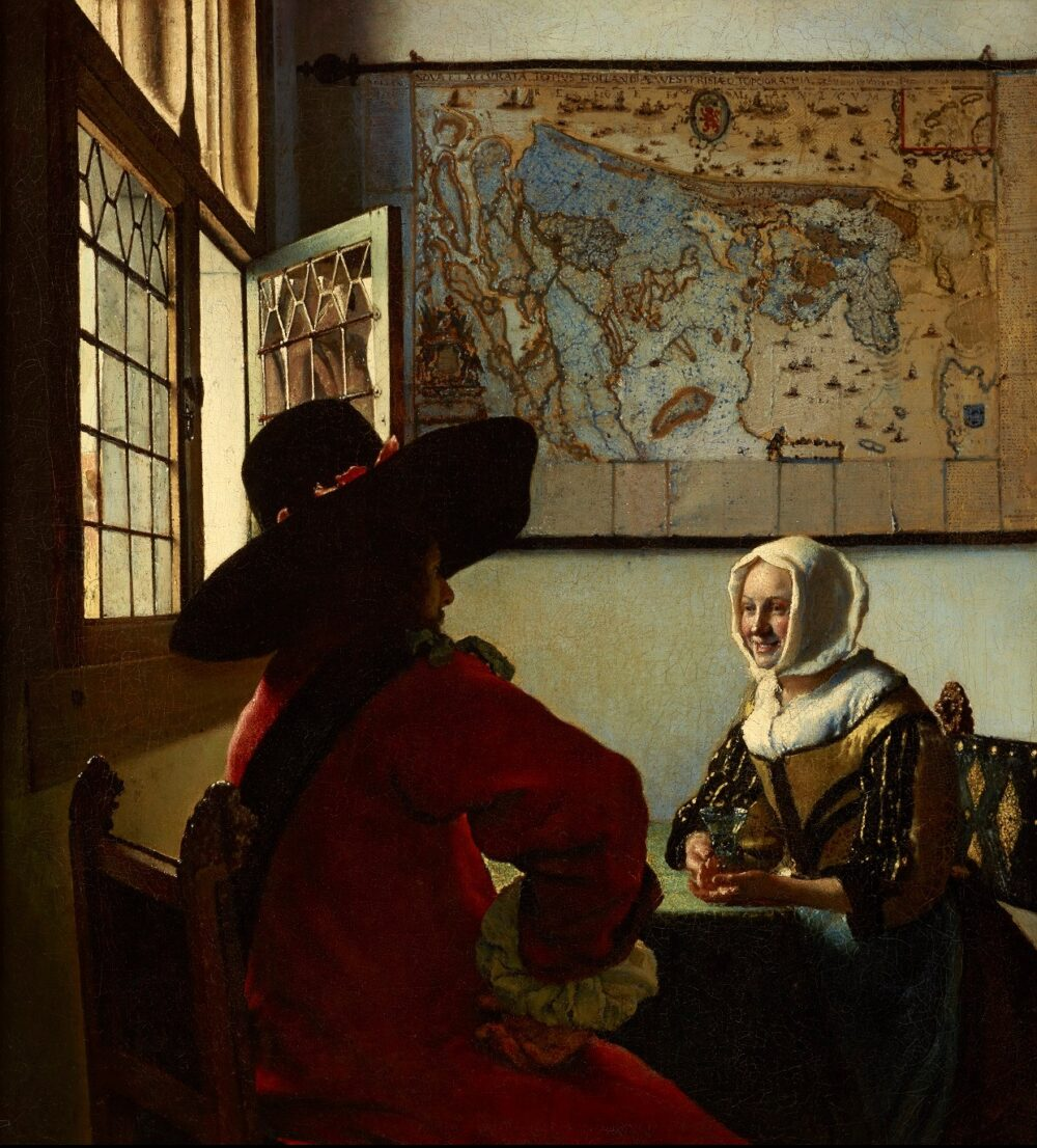 5. Johannes Vermeer (1632-1675), Officer and a Laughing Girl,1657 The Frick Collection, New York Henry Clay Frick Bequest (1911.1.127) © The Frick Collection