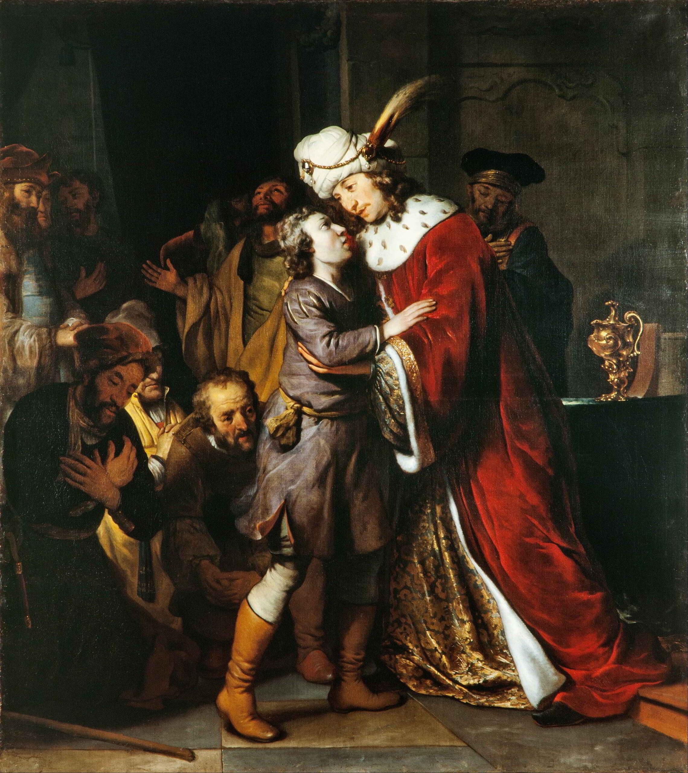 Gerbrand van den Eeckhout (1621-1641), Joseph and his Brothers, 1657 Skokloster Castle, Stockholm