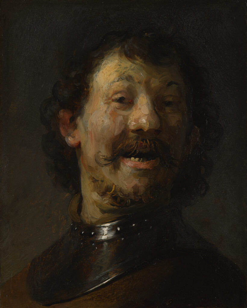 Rembrandt van Rijn (1606-1669), The Laughing Man, 1629/30, oil on copper on panel, 15.3 x 12.2 cm Mauritshuis, The Hague