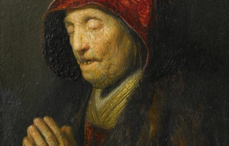 Rembrandt van Rijn (1606-1669), Old Woman Praying, 1629/30, oil on gilded copper Residenzgalerie Salzburg © Residenzgalerie / Fotostudio Ulrich Ghezzi, Oberalm