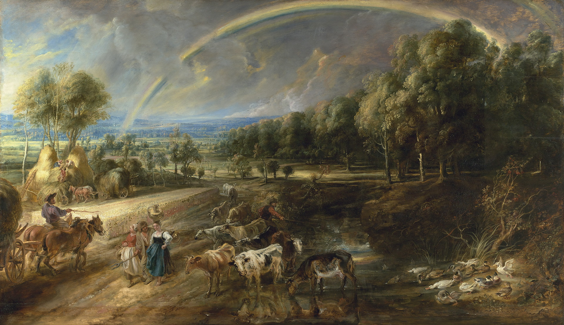 Peter Paul Rubens (1577-1640), The Rainbow Landscape, 1636 The Wallace Collection, London