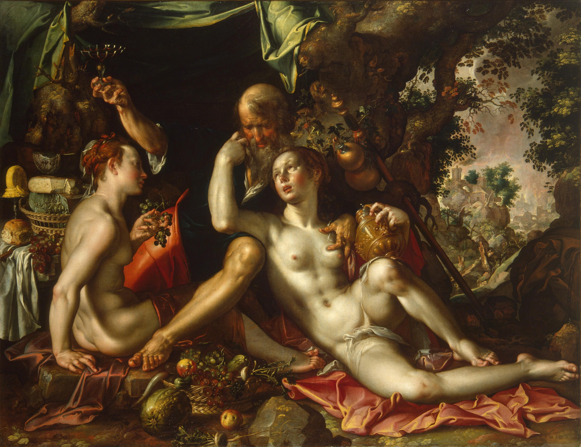 Joachim Wtewael (1566-1638), <em>Lot and his Daughters</em>, ca. 1600 State Hermitage Museum, St. Petersburg