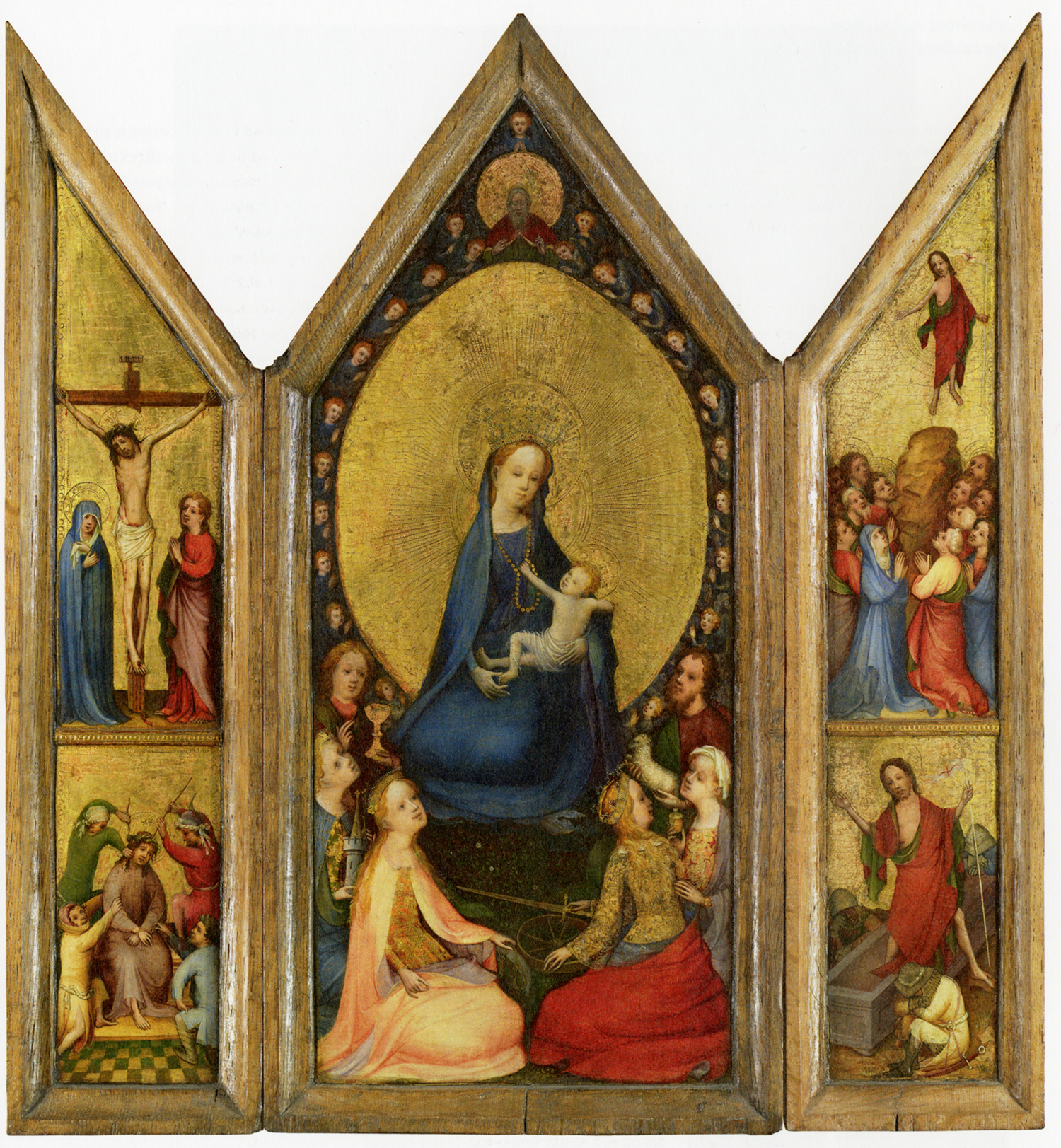Master of the Holy Veronica, <em>Triptych of the Madonna with Saints</em>, ca. 1410 Museum Boijmans van Beuningen, Rotterdam