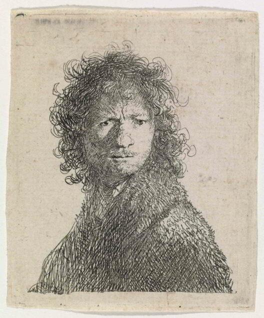 Rembrandt (1606-1669), <em>Self-portrait Frowning</em>, 1630 Sinebrychoff Art Museum, Helsinki