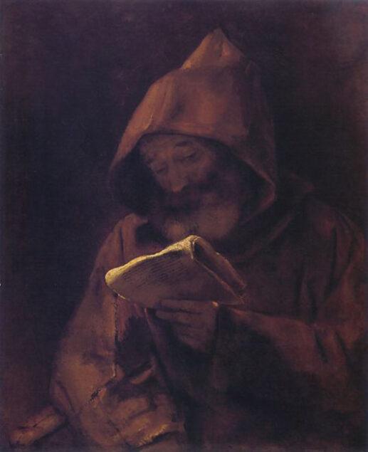 Rembrandt (1606-1669), A Monk Reading, ca. 1661 Sinebrychoff Art Museum, Helsinki