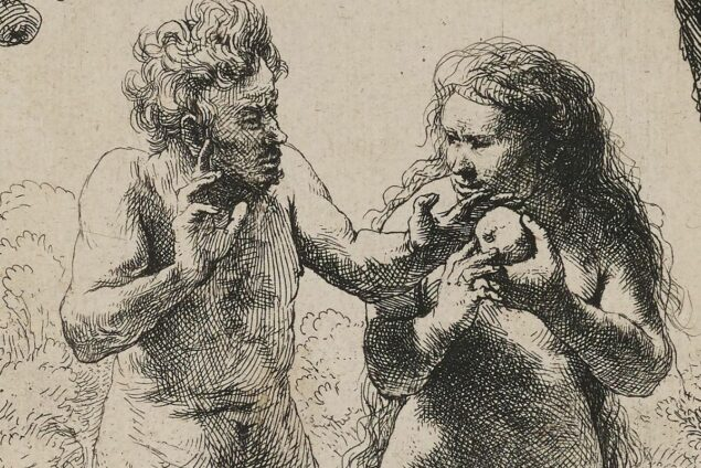 Rembrandt (1606-1669), Adam and Eve (detail), 1638–58 Minneapolis Institute of Art, Mineapolis, MN