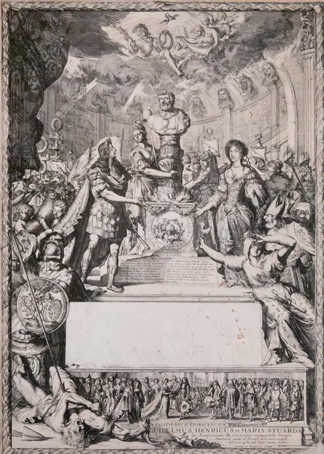 Romeyn de Hooghe (1645-1708). <em>Marriage of William and Mary</em>, 1677 Krannert Art Museum, University of Illinois, Urbana-Champaign