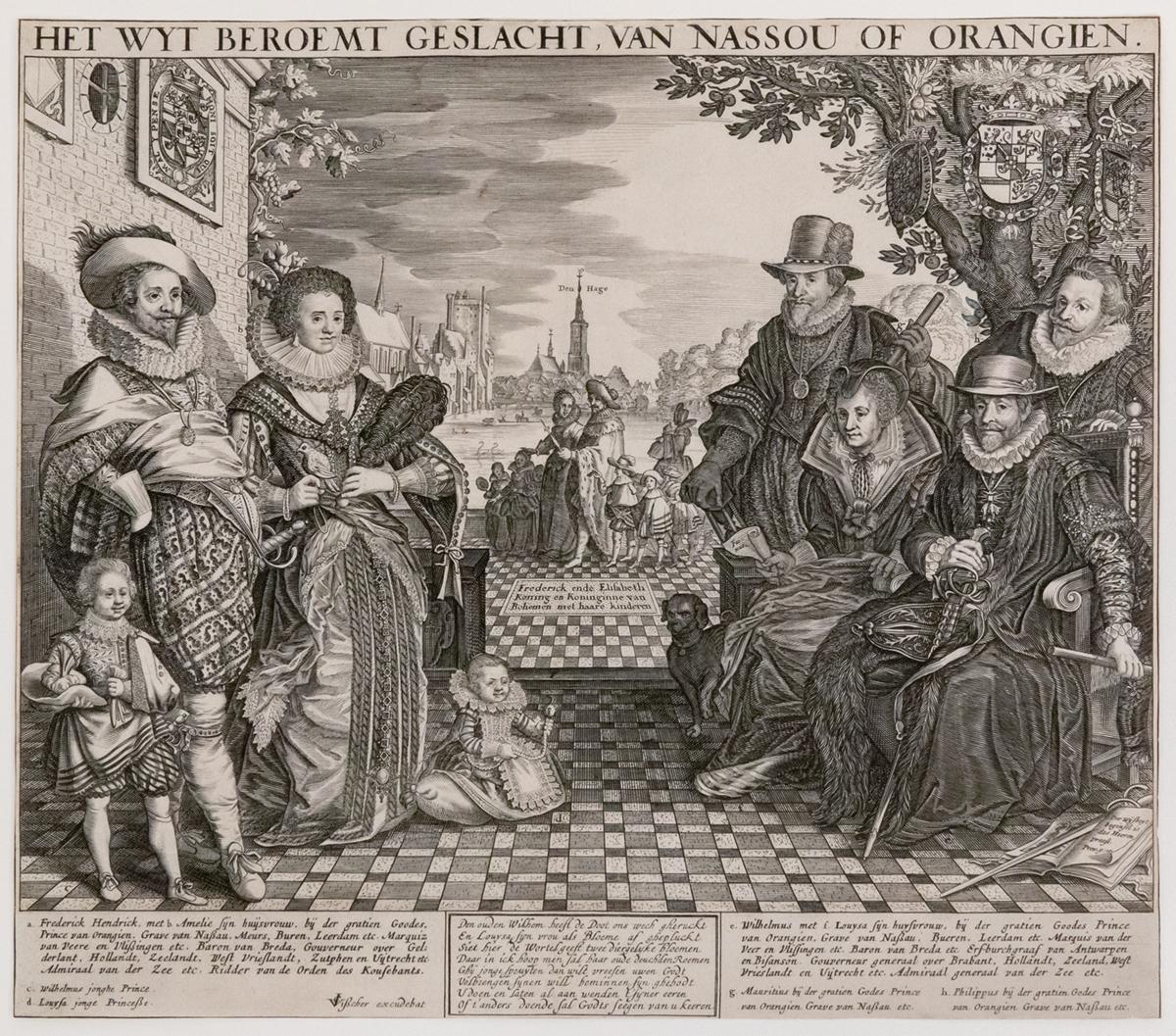 Claes Jansz Visscher (1587-1652) <em>The Far-famed House of Nassau or Orange</em>, ca. 1628-29 Krannert Art Museum, University of Illinois, Urbana-Champaign