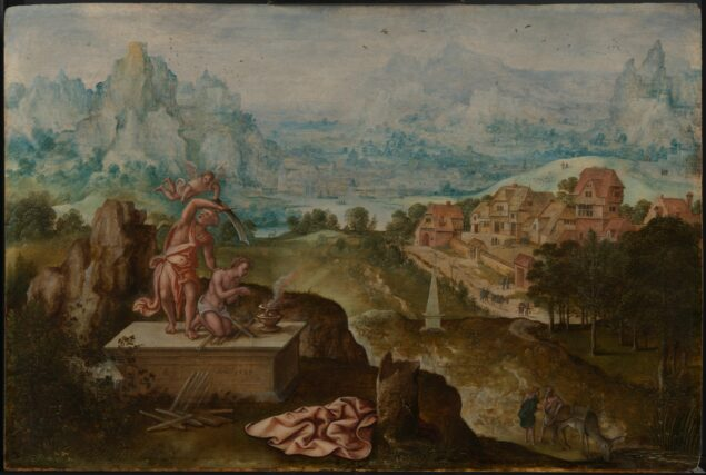 Fig. 6. Lucas Gassel (ca. 1488-1568/69), <em>Landscape with the Sacrifice of Isaac</em>, 1539 Museum Helmond