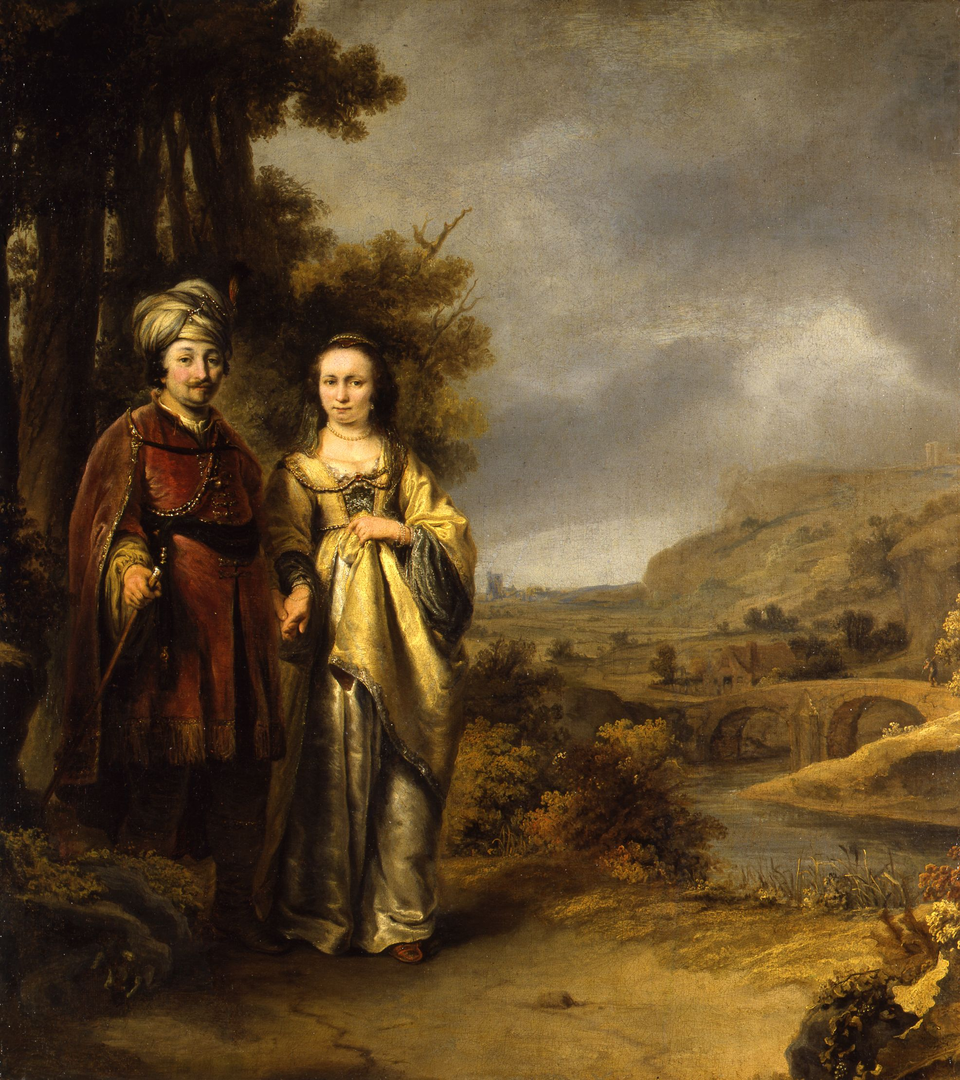 Fig. 4. Ferdinand Bol (1616–1680), Couple in a Landscape, ca. 1647–50 Dordrechts Museum, loan of the Cultural Heritage Agency 1948