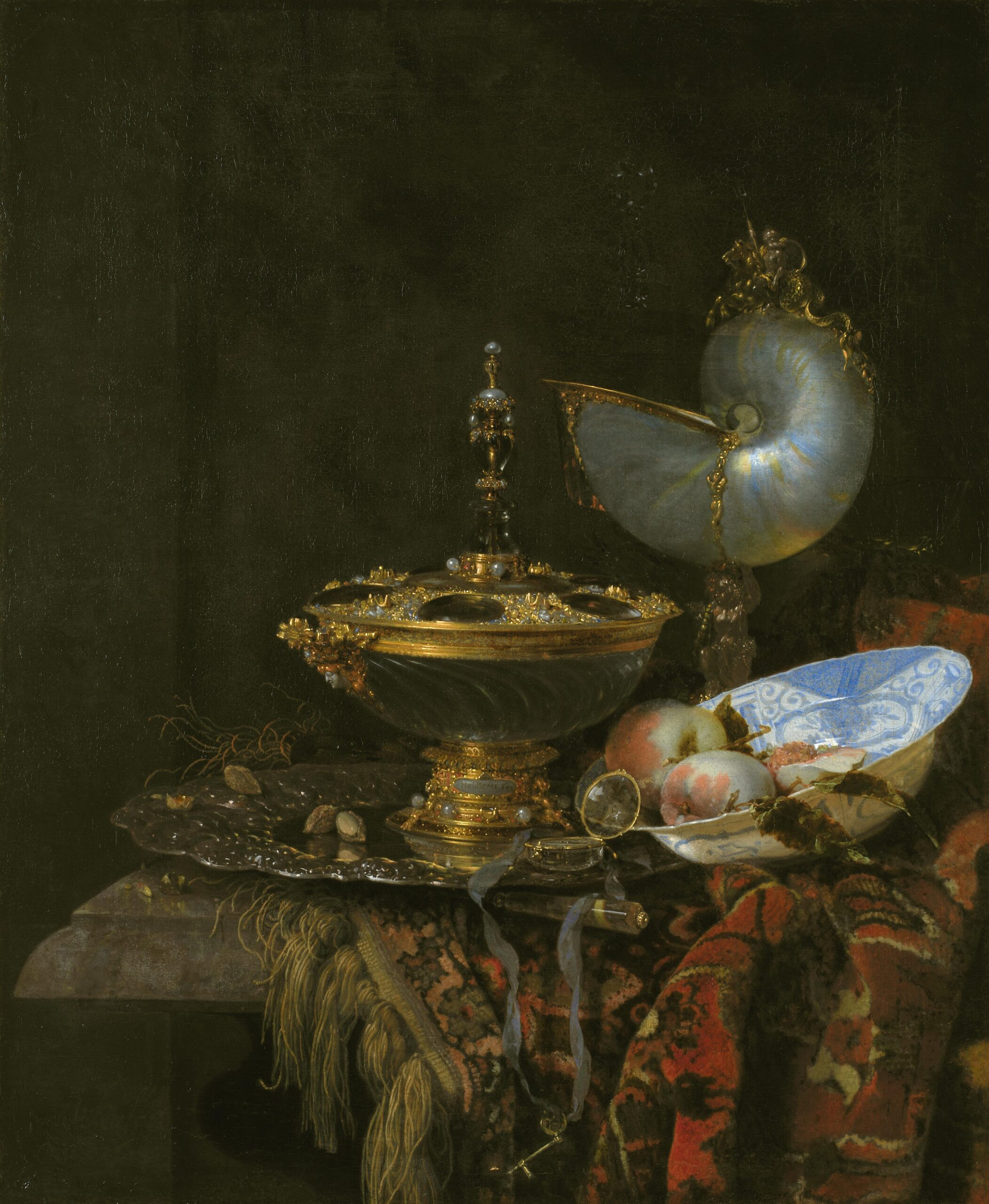 Fig. 5. Willem Kalf (1619–1693), Pronk Still Life, 1678 Statens Museum for Kunst, Copenhagen