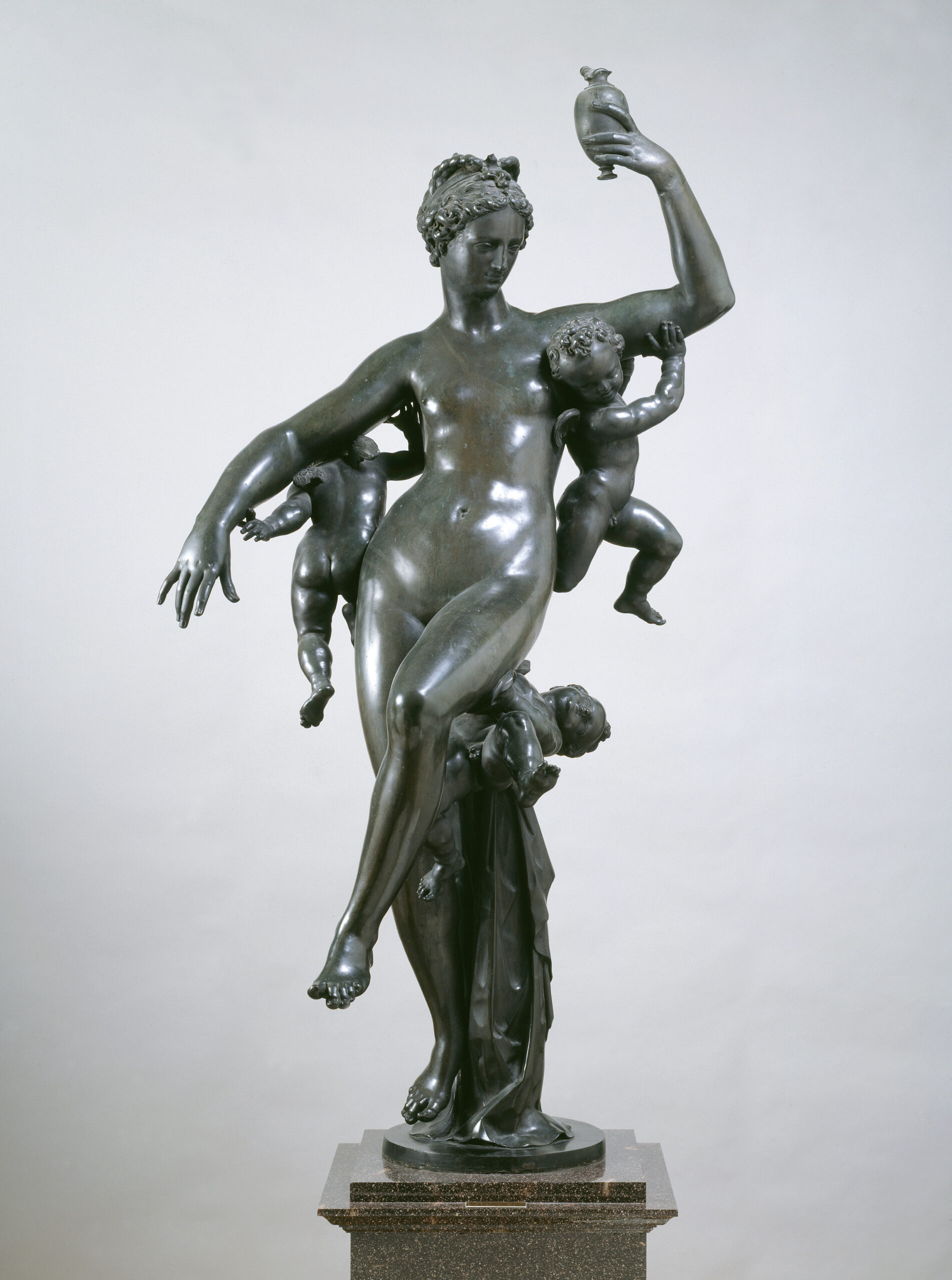 Adriaen de Vries (ca. 1556-1626), Psyche Carried by Cupids, 1590-1592 Photo: Hans Thorwid, Nationalmuseum
