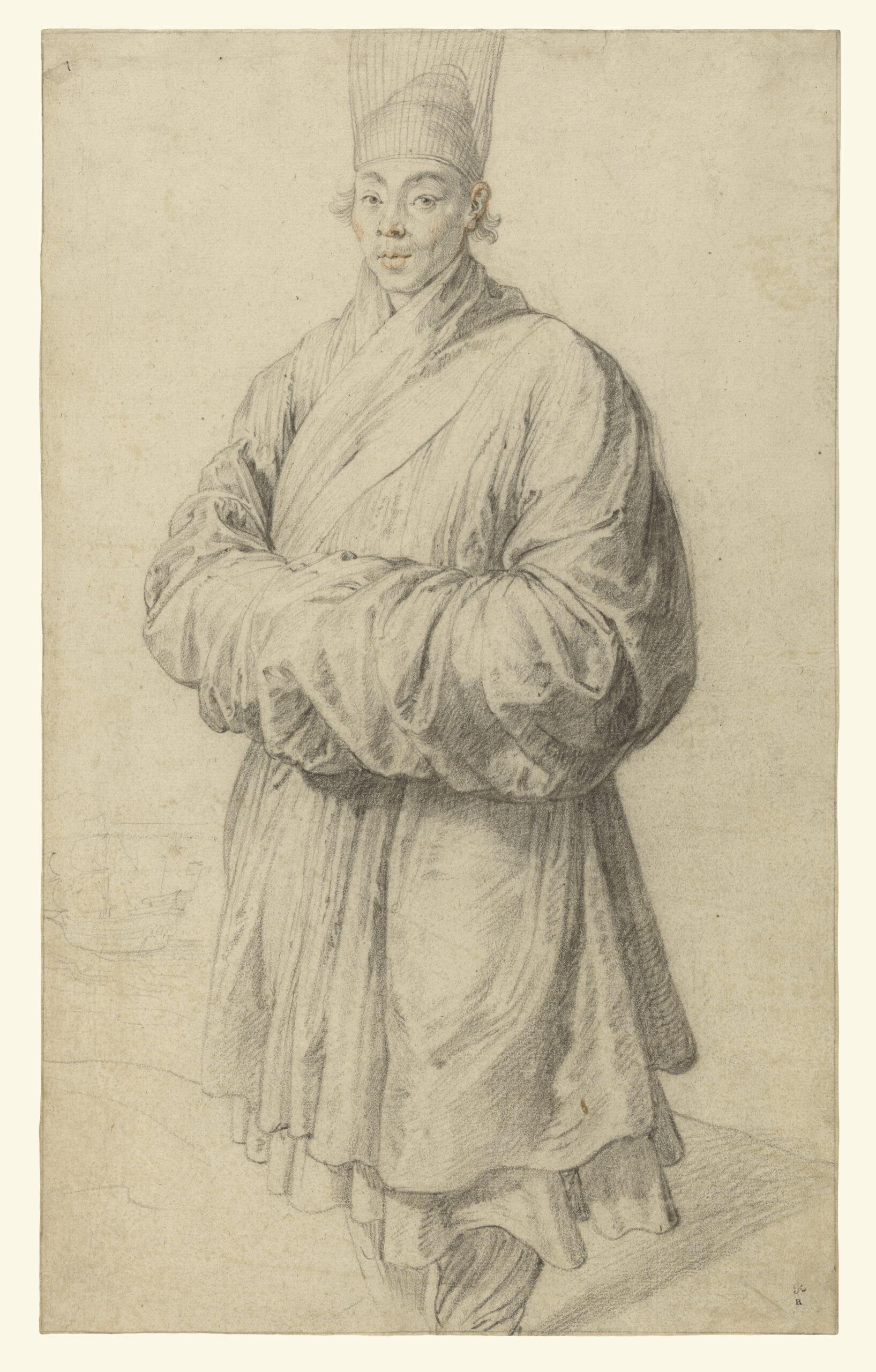 Peter Paul Rubens (1577-1640), <em>Man in Korean Costume</em>, ca. 1617<br>J. Paul Getty Museum, Los Angeles (83.GB.384)