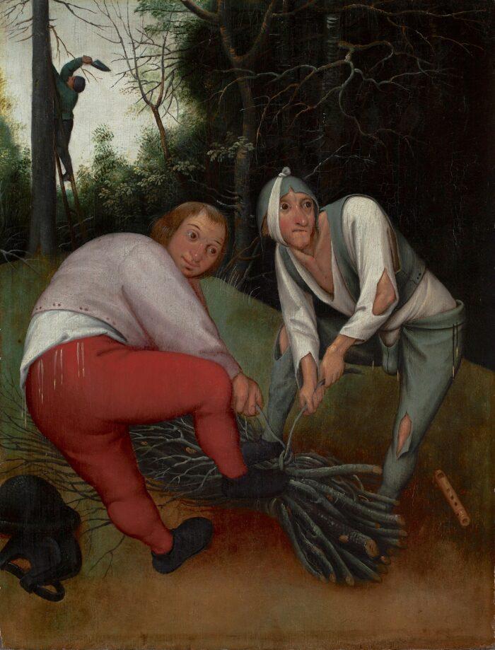 Pieter Bruegel the Younger (1564-1636), <em>Two Peasants binding Faggots</em>, ca. 1620<br>© The Henry Barber Trust, The Barber Institute of Fine Arts, University of Birmingham