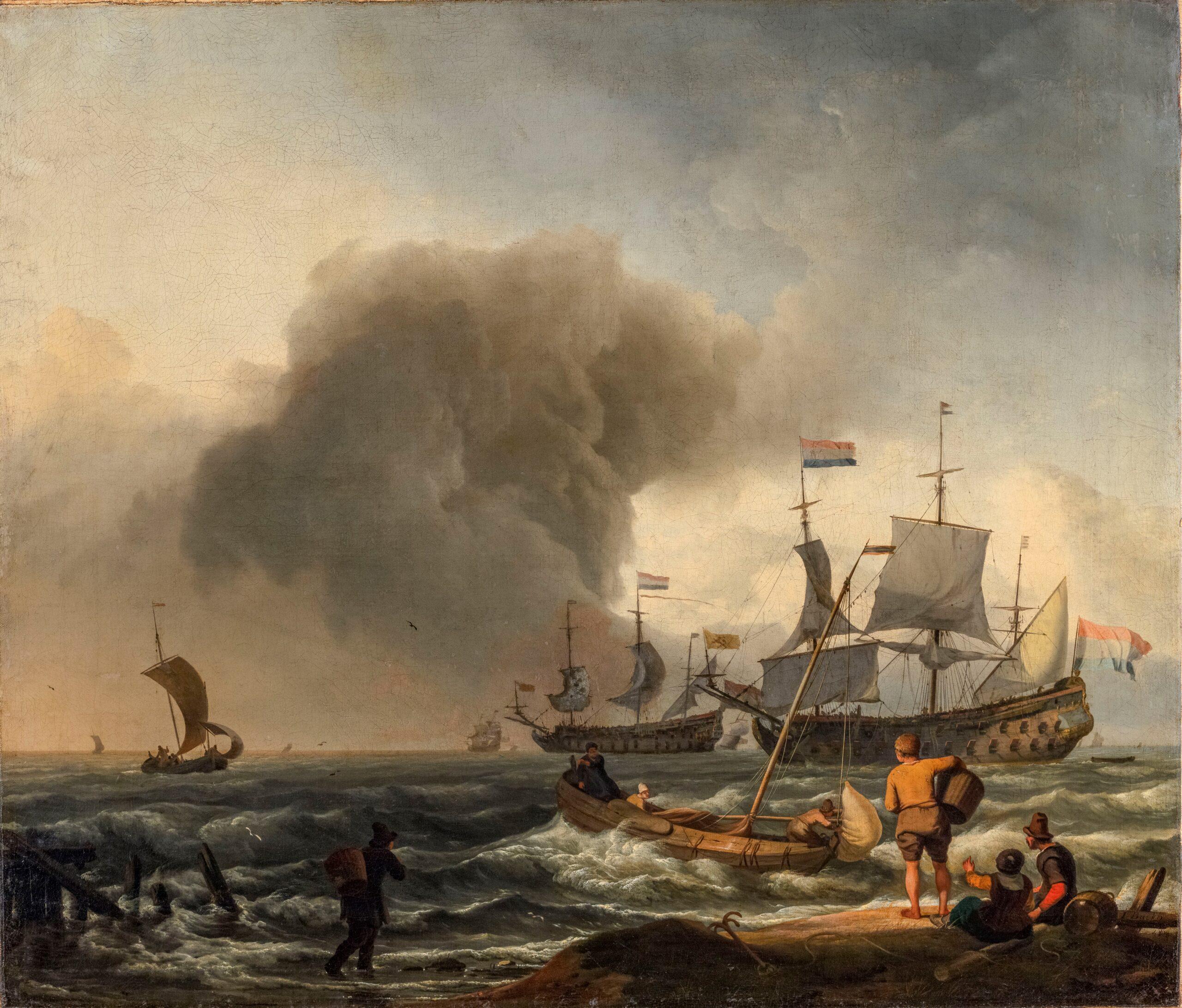 Fig. 4 Ludolf Backhuysen (1630/31–1708), Seascape with Fishing Boats and Warships, c. 1670Kurpfälzisches Museum der Stadt Heidelberg. Photo: K. Gattner