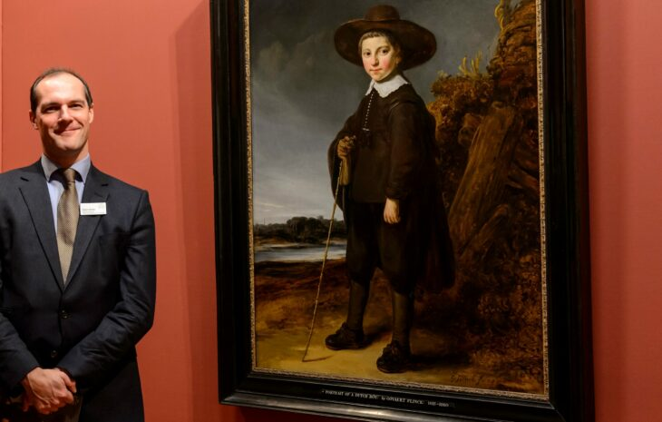 Robert Wenley next to Govaert Flinck's Portrait of a Boy of 1640