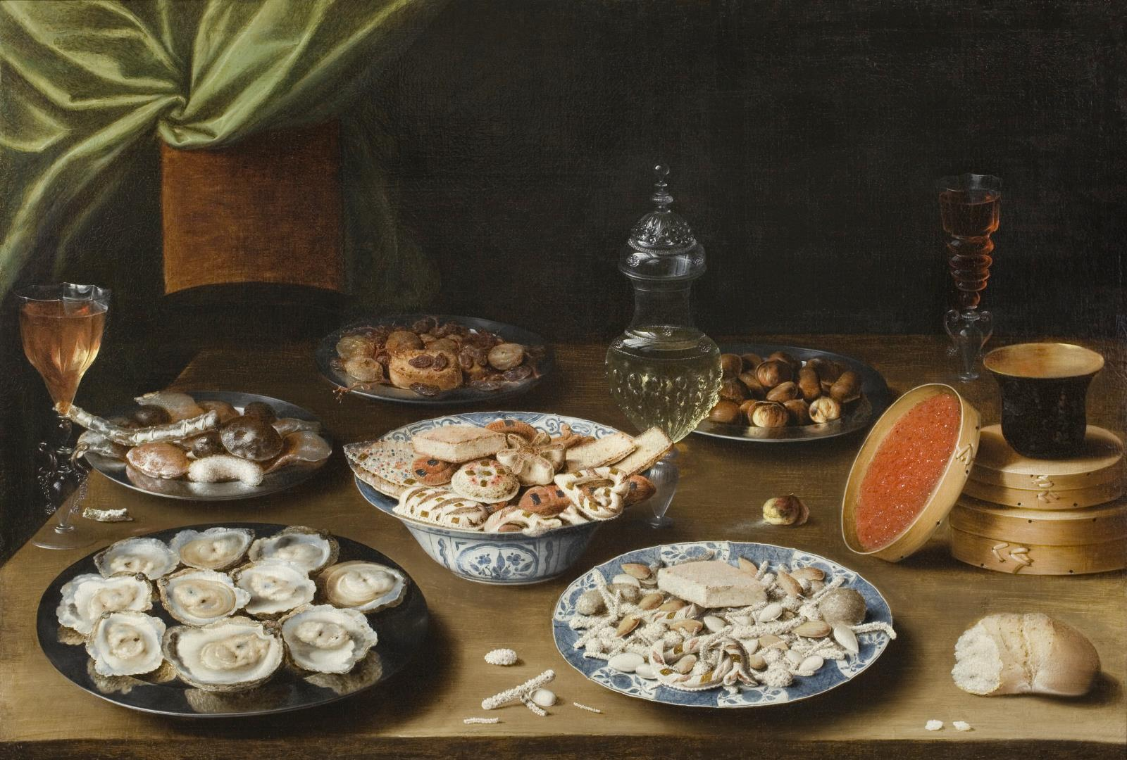 Osias Beert (1580-1623), Still Life with Various Vessels on a Table, ca. 1610. Promised gift of Susan and Matthew Weatherbie, in support of the Center for Netherlandish Art