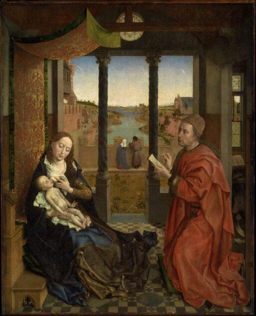 Rogier van der Weyden (1399/1400-1464), St. Luke Drawing the Virgin, ca. 1435-1440. Museum of Fine Arts, Boston 93.153