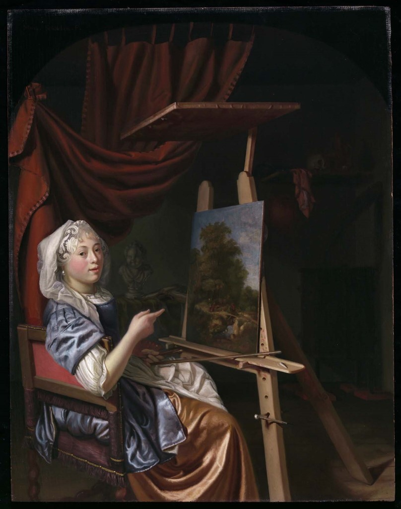 Maria Schalcken (1645/50 - before 1700), Self-portrait of the Artist in Her Studio, ca. 1680. Museum of Fine Arts, Boston 2019.2094