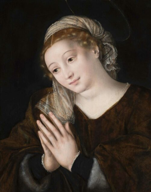 Jan Massijs (1509-1575) <em>Praying Virgin</em>, 1552<br>Abbey of San Giorgio Maggiore, Venice