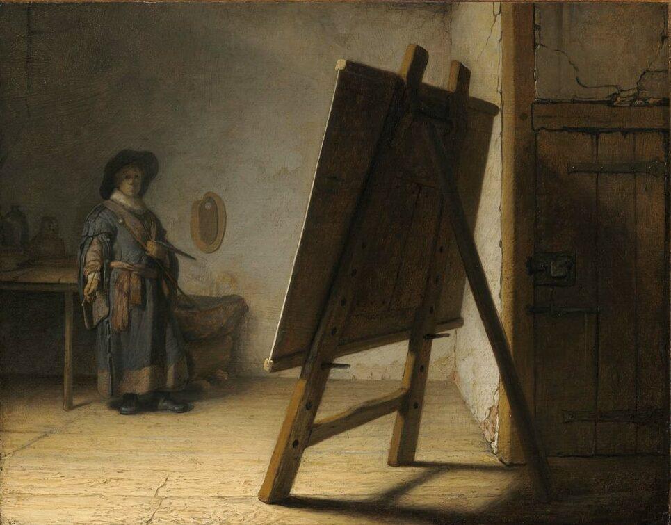 Rembrandt (1606-1669), <em>Artist in His Studio</em>, ca. 1628<br>Museum of Fine Arts, Boston 38.1838
