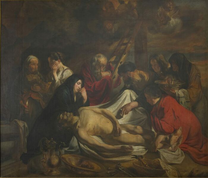 1. Jacob Jordaens (1593-1678), The Washing and Anointing of the Body of Christ, 1620-1623Maagdenhuismuseum, Antwerp