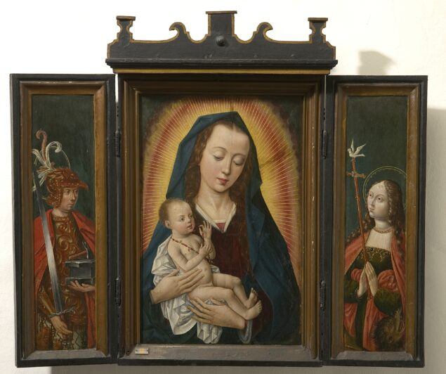 5. Anonymous, <em>Triptych of Madonna and St Adrian and St Margaret of Antioch</em>, late 15th century<br>Maagdenhuismuseum, Antwerp