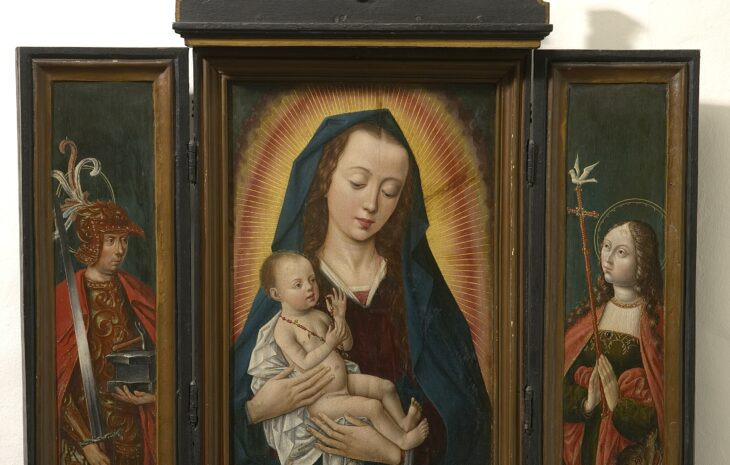 5. Anonymus, Triptych of Madonna and St Adrian and St Margaret of Antioch, late 15th centuryMaagdenhuismuseum, Antwerp