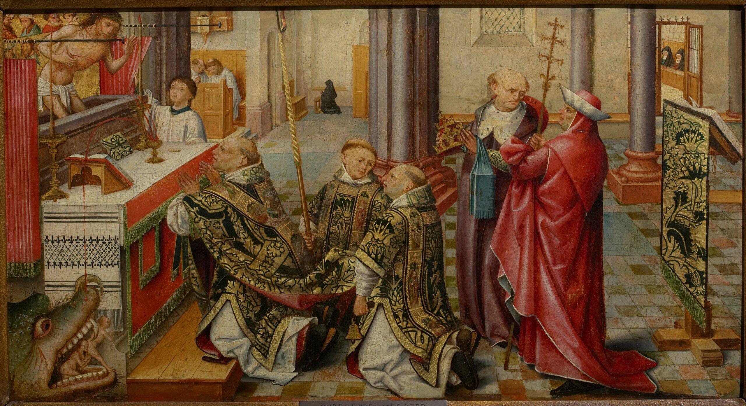 4. Circle of Jacob Cornelisz. van Oostsanen, <em>The Mass of St Gregory</em>, ca. 1510-1520<br>Maagdenhuismuseum, Antwerp