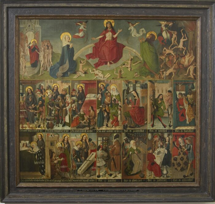 2. Unknown Antwerp master, The Last Judgement, the Seven Acts of Mercy, and the Seven Deadly Sins, 1490-1500 Maagdenhuismuseum, Antwerp