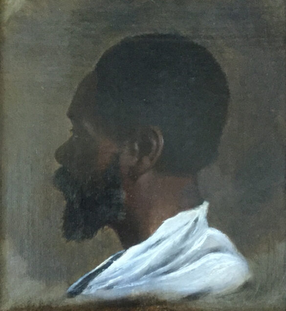 Thomas Mervyn Bouchier Marshall (1830 – 1859), Portrait of a Black Man in Profile, presumably Zeno Oreno, ca. 1850-55Chrysler Museum of Art, Norfolk, VA